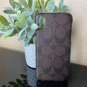 Coach - Brown & Black C Signature IPhone X Case